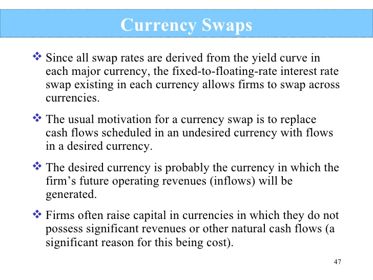 The Difference Between Currency Swaps and Rate Swaps